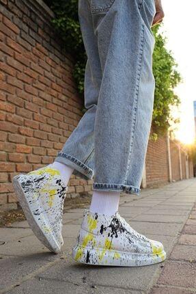 Chekich Unisex Beyaz Sarı Benekli Ayakkabı