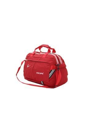 Escape  Unisex Kırmızı Polyester Kumaş Seyahat Çantası