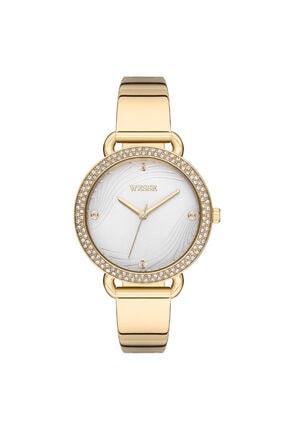 Wesse Kadın Altın Renk Set Kol Saati ve Bileklik Swwl108202