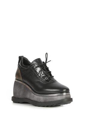 İlvi Kadın Siyah Topuklu Ayakkabı Deri Korta-LV980.1001