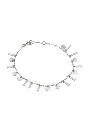 Gimora Pullu Çubuklu Gümüş Bileklik