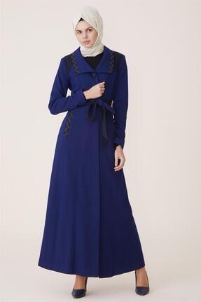 Doque Kadın Mavi Pardesü
