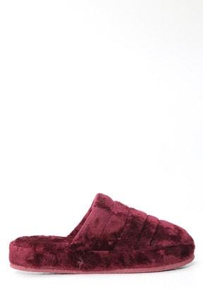 Ayakkabı Modası Kadın Bordo Ev Terliği