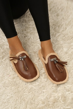 Ayakkabı Modası Kadın Püsküllü Ev Terliği