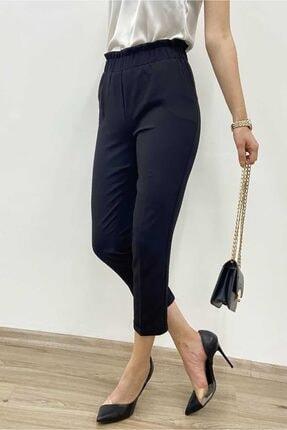 Madmext Kadın Siyah Mad Girls  Beli Lastikli Havuç Pantolon Mg795