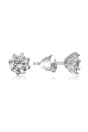 Valori Jewels 1.5 Karat Swarovski Zirkon Taşlı, Gümüş Tektaş Küpe