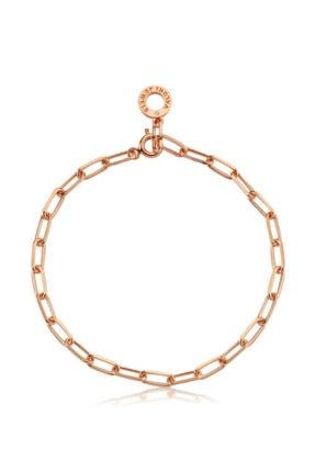 Valori Jewels Rose Gümüş Zincir Swarovski Zirkon Taşlı Charm Bileklik