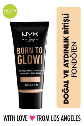 NYX Professional Makeup Fondöten - Born To Glow! Naturally Radiant Foundation 4 Light Ivory 800897190323