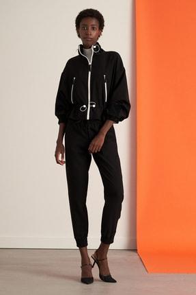 Nocturne Kadın Siyah Kontrast Aksesuarlı Ceket Kadın N21K-5320-0002