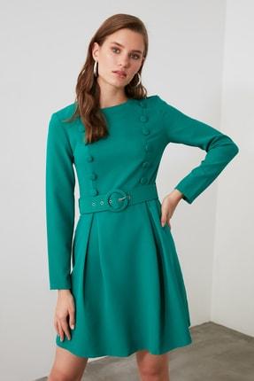 TrendyolMilla Yeşil Kemerli Elbise TWOAW21EL1906