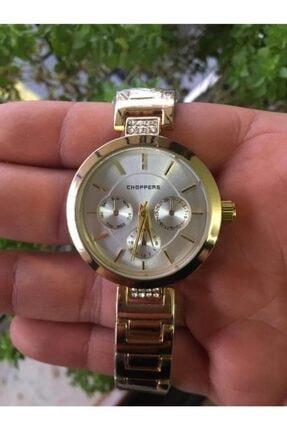 Choppers Gold Taşlı Kadın Kol Saati