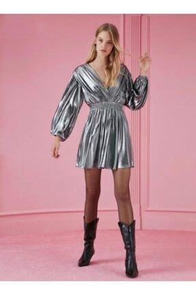 Nocturne Metalik Mini Elbise