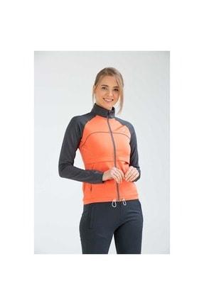 Umbro Kadın Turuncu Fermuarlı Spor Sweatshirt Va0007