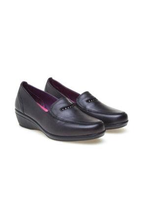 Greyder Kadın Siyah Deri Ortopedik  Ayakkabı