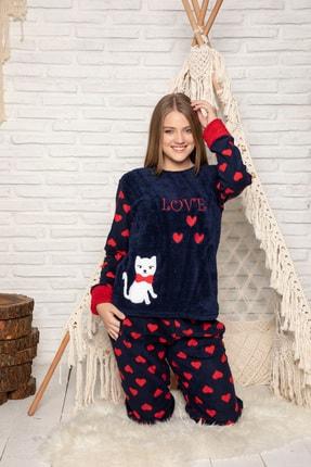 Elitol Kadın Lacivert Welsoft Pijama Takim