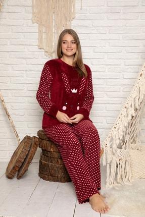 Elitol Kadın Bordo Welsoft Pijama Takim