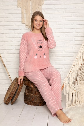 Elitol Kadın Pudra Welsoft Pijama Takim