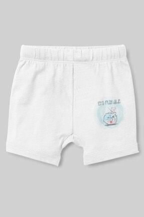 Angemiel Kız Bebek Beyaz Yazılı Sevimli Fareler Şort