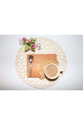 Kahve Sunum Tabağı- 1 - Servis Tabağı - Bambu Tabak 164320