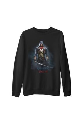 Lord Unisex Siyah Assassin's Creed Sweatshirt