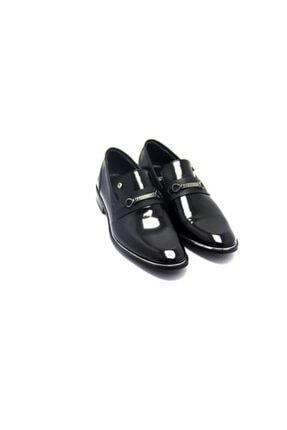 Pierre Cardin Erkek Siyah Rugan Iğne Klasik Ayakkabı
