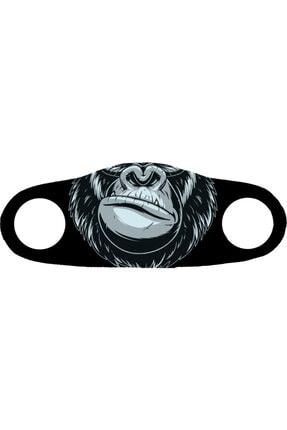 ANGELINO Moda Maske Goril Baskı No 48 Yıkanabilir Yetişkin Yüz Maskesi