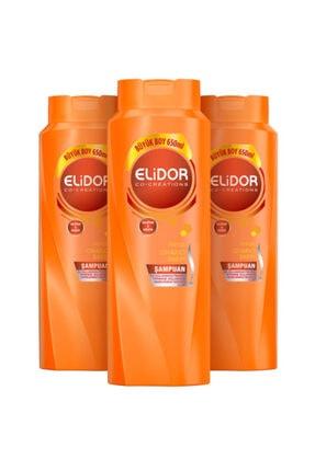 Elidor Anında Onarıcı  Saç Bakım Şampuanı 650 ml 3 Adet