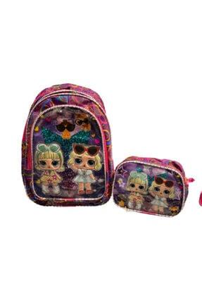 Frozen Kızlar Ilk Okul Çanta+beslenme Çanta