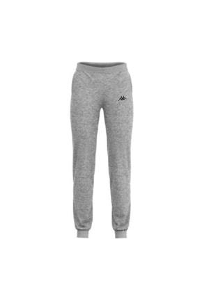 Kappa Unisex Gri Melanj Paça Ribanalı Sweat Pantolon