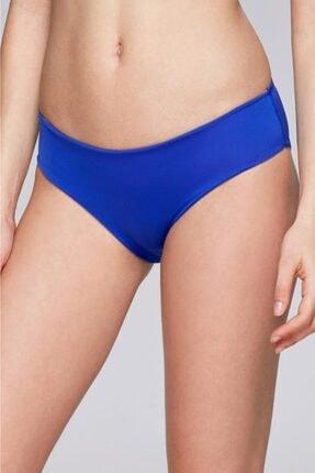 Reflections Kadın Mavi Kalın Kenarlı Düz Bikini Alt