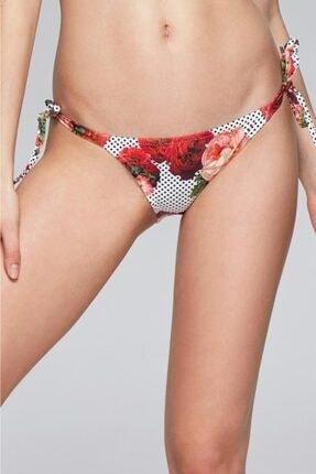 Reflections Kadın Renkli Mix Match Yandan Bağlamalı Desenli Bikini Alt