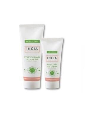 Incia E Vitamini Içeren Karın Çatlak Jeli 75 ml Göğüs Ucu Bakım Jeli 30 ml
