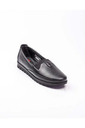 Polaris 161426 Comfort Siyah Deri Kadın Günlük Ayakkabı Siyah-39
