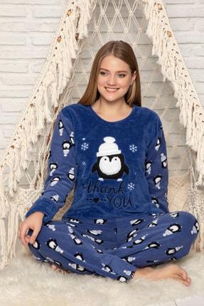 Elitol Kadın Indigo Welsoft Pijama Takim