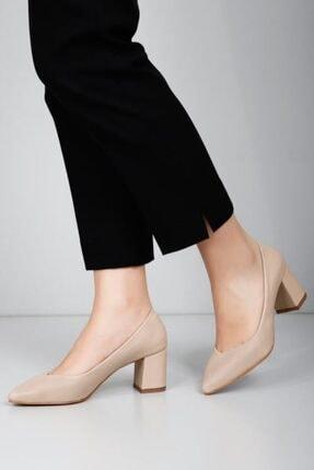 Kadın Ten Rengi Topuklu Ayakkabı