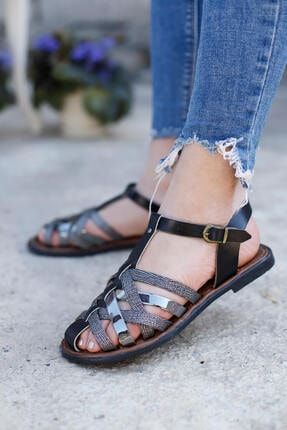 Punto Kadın Duz Taban Önü Kapalı Sandalet
