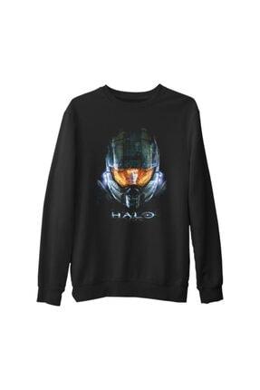 Lord Unisex Siyah Halo Kalın Sweatshirt