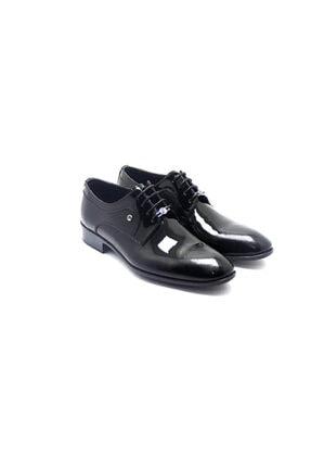 Pierre Cardin Erkek Siyah Rugan  Klasik Ayakkabı