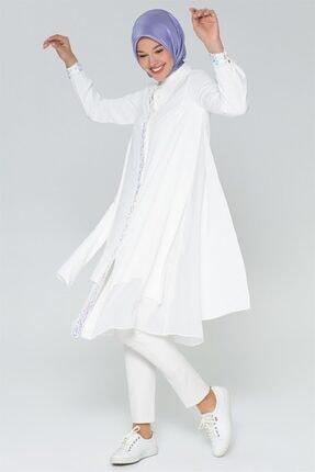 Armine Kadın Beyaz Tunik 20y4245