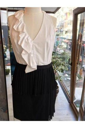 Nocturne Kadın Fırfır Detaylı Elbise