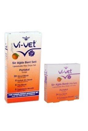 Vi-Vet Portakal Yüz Ve Vücut Ağda Bantı 2'li Set