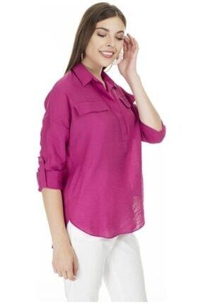 Ayhan Kadın Fuşya Gömlek