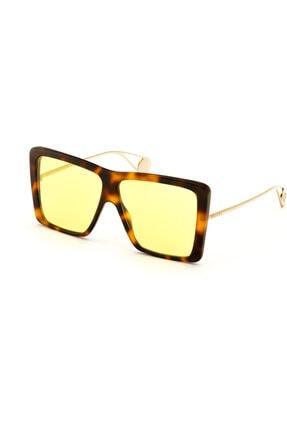 Gucci Kadın Kahve Güneş Gözlüğü Gg0434s 002 61