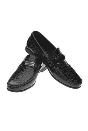 Pierre Cardin Erkek Siyah Rugan Krok Desenli Ayakkabı