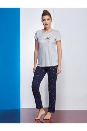 PJS PİJAMA Kadın Gri Pijama Takımı