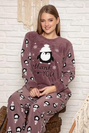 Elitol Kadın Vizon Welsoft Pijama Takim
