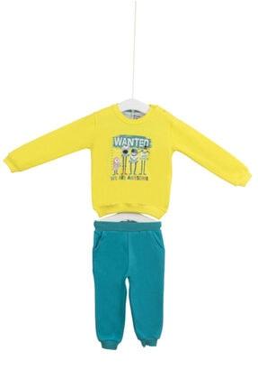 Aziz Bebe Unisex Bebek Sarı Eşofman Takımı