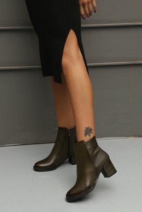 Ayakkabı Modası Kadın Haki Bot