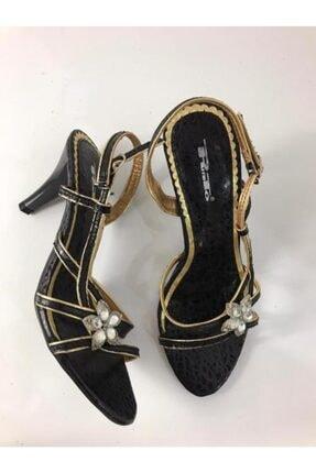 Punto Kadın Siyah Topuklu Abiye Ayakkabı 372