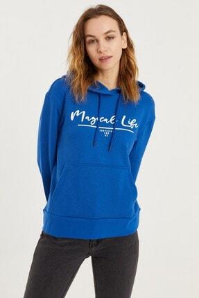VENA Kadın Safir Magical Life Baskılı Sweatshirt